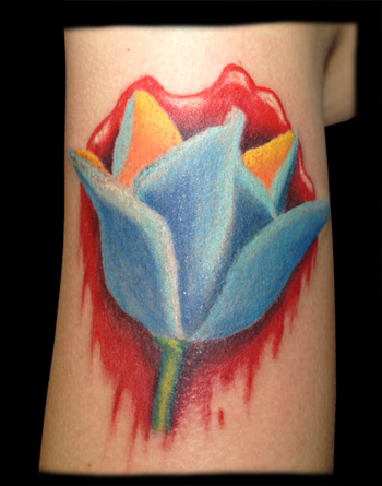 Bloody Tulip Tattoo Image