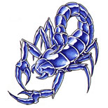 Blue Scorpion Tattoo Version