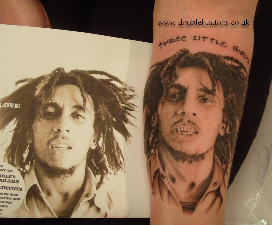 Bob Marley Portrait Tattoo (2)