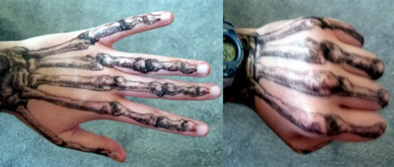 Bone Hand Tattoos Images
