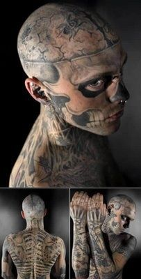Bone Tattooed Boy