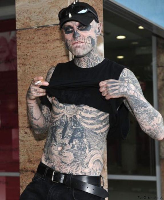 Bone Tattooed Guy