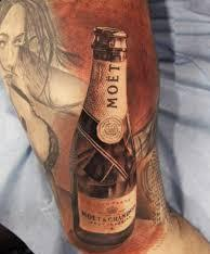 Bottle Portrait Tattoo On Arm