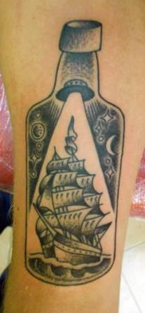 Bottle With Ship Tattoo Again