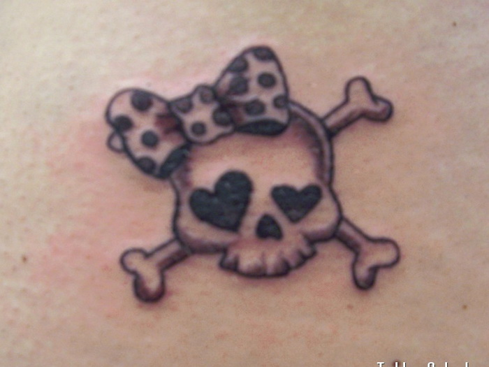 Bow On Skull Tattoo