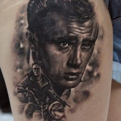 Boy On Bike Portrait Tattoo