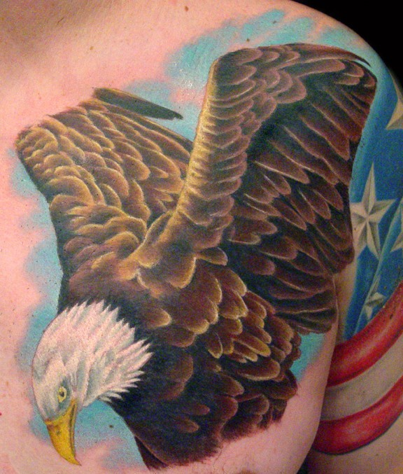 Brandon Bond American Eagle Tattoos For Men