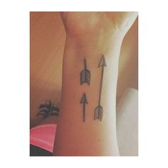Broken And Complete Arrow Tattoo On Wrist