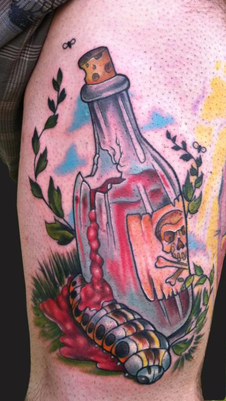 Broken Bottle Tattoo (2)