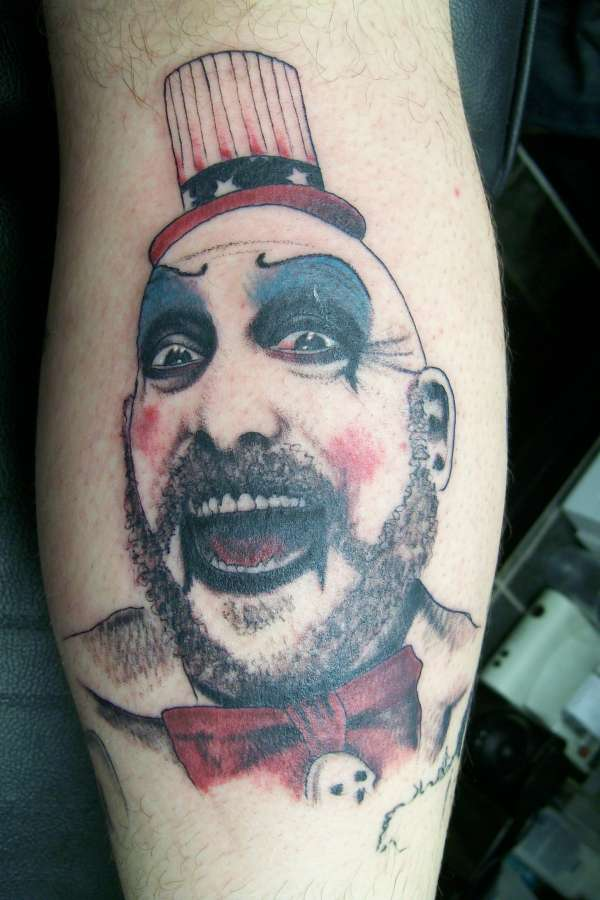 Captain Spaulding Portrait Tattoo