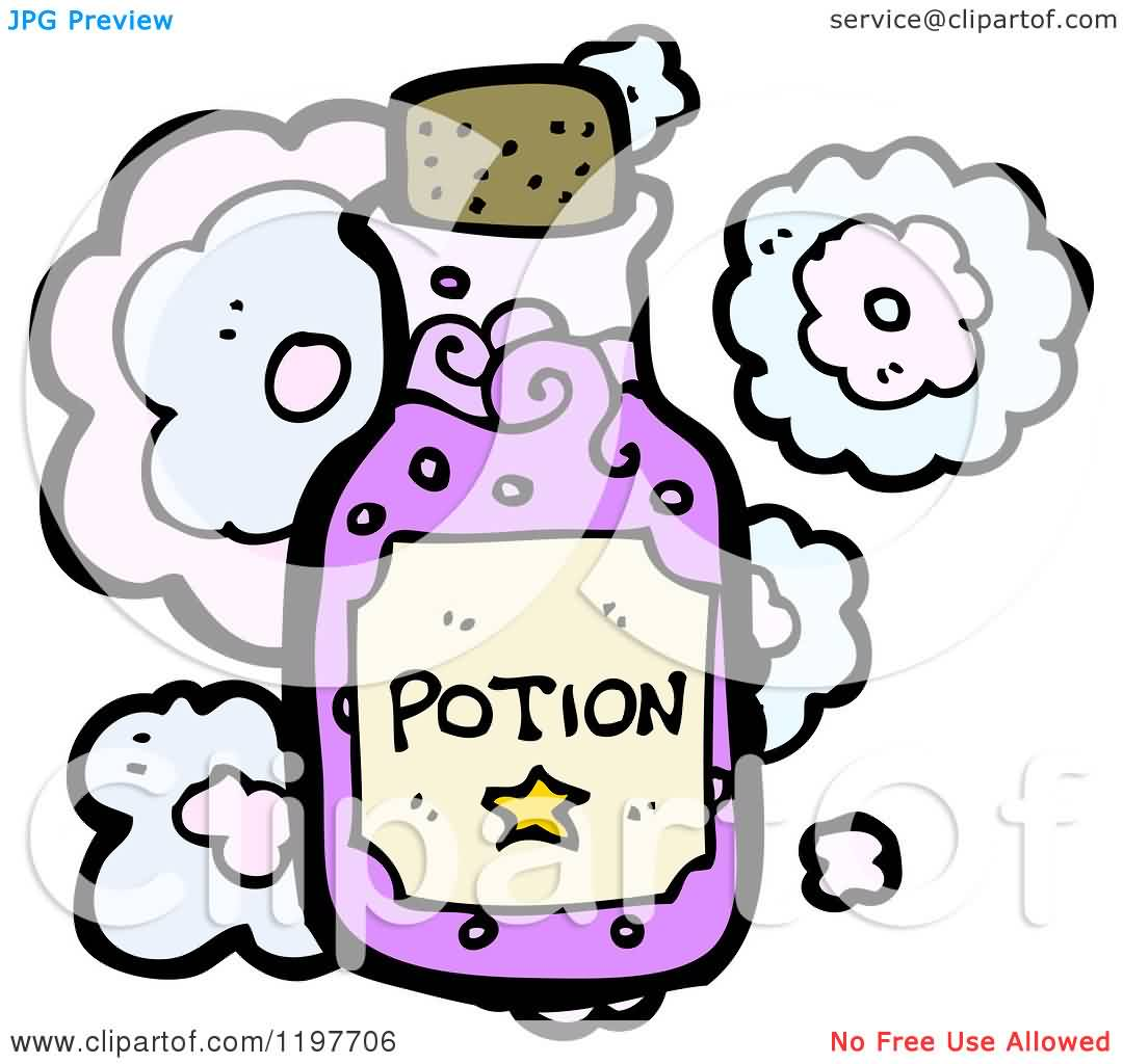 Cartoon Of A Bottle Of Potion Tattoo Model