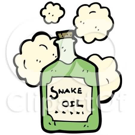 Cartoon Of A Bottle Of Snake Oil Tattoo Design