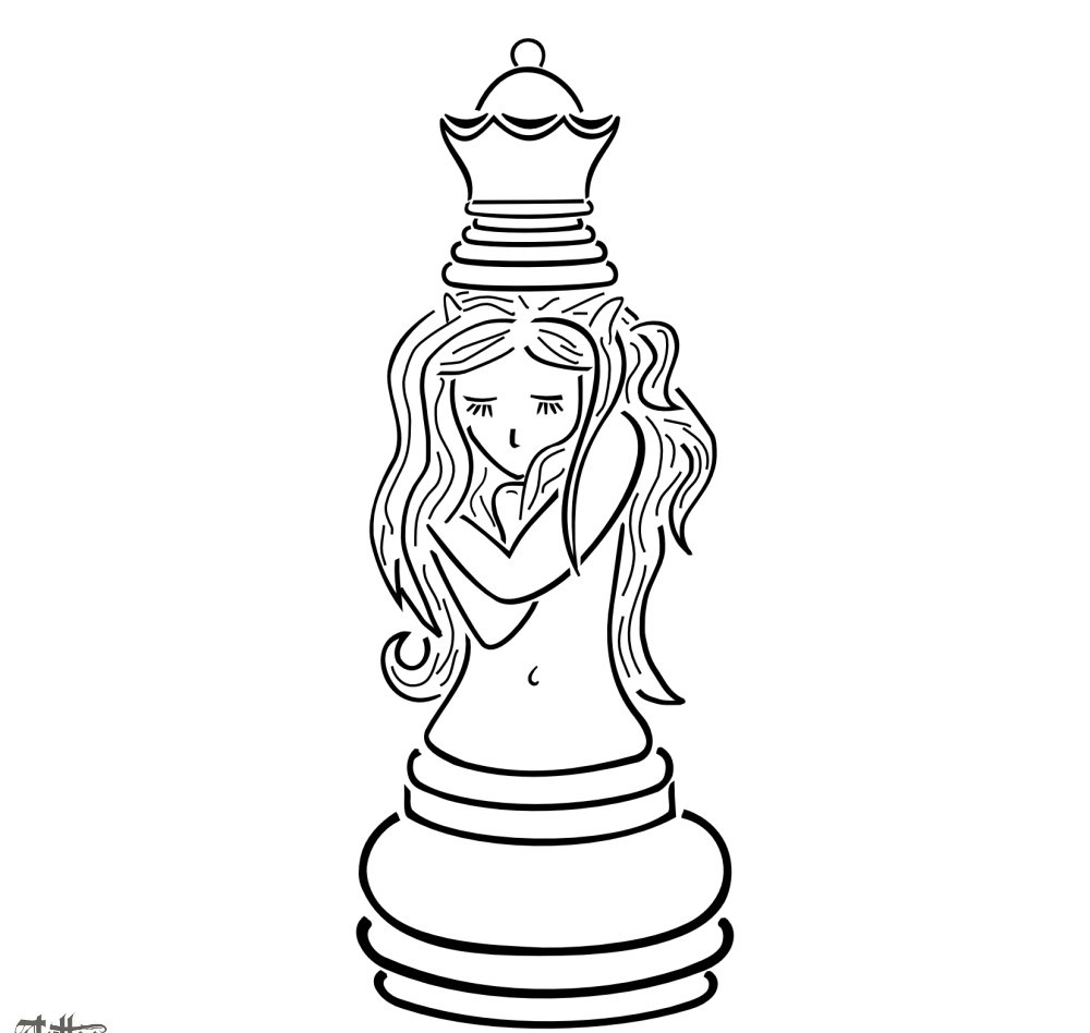 Chess Queen Tattoo Sample