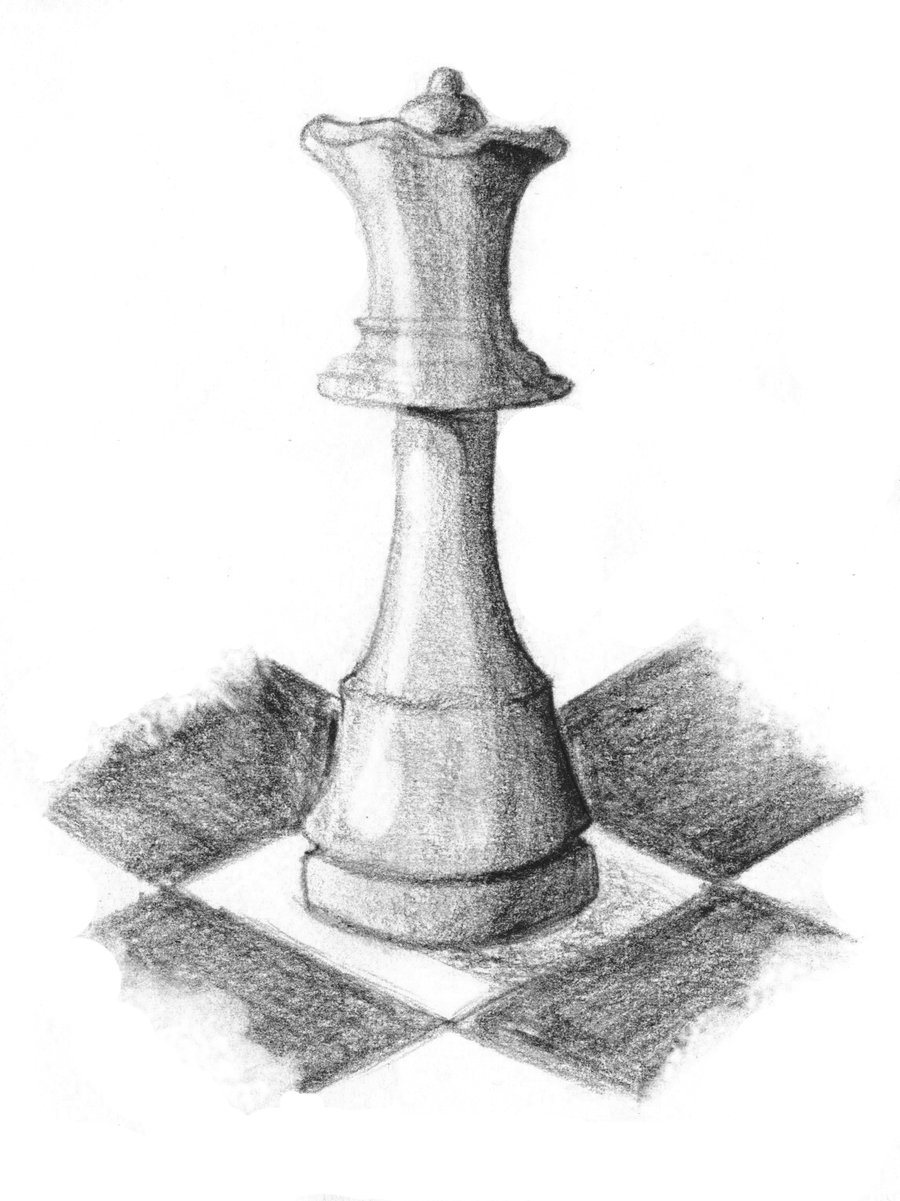 Chess Queen Tattoo Sketch