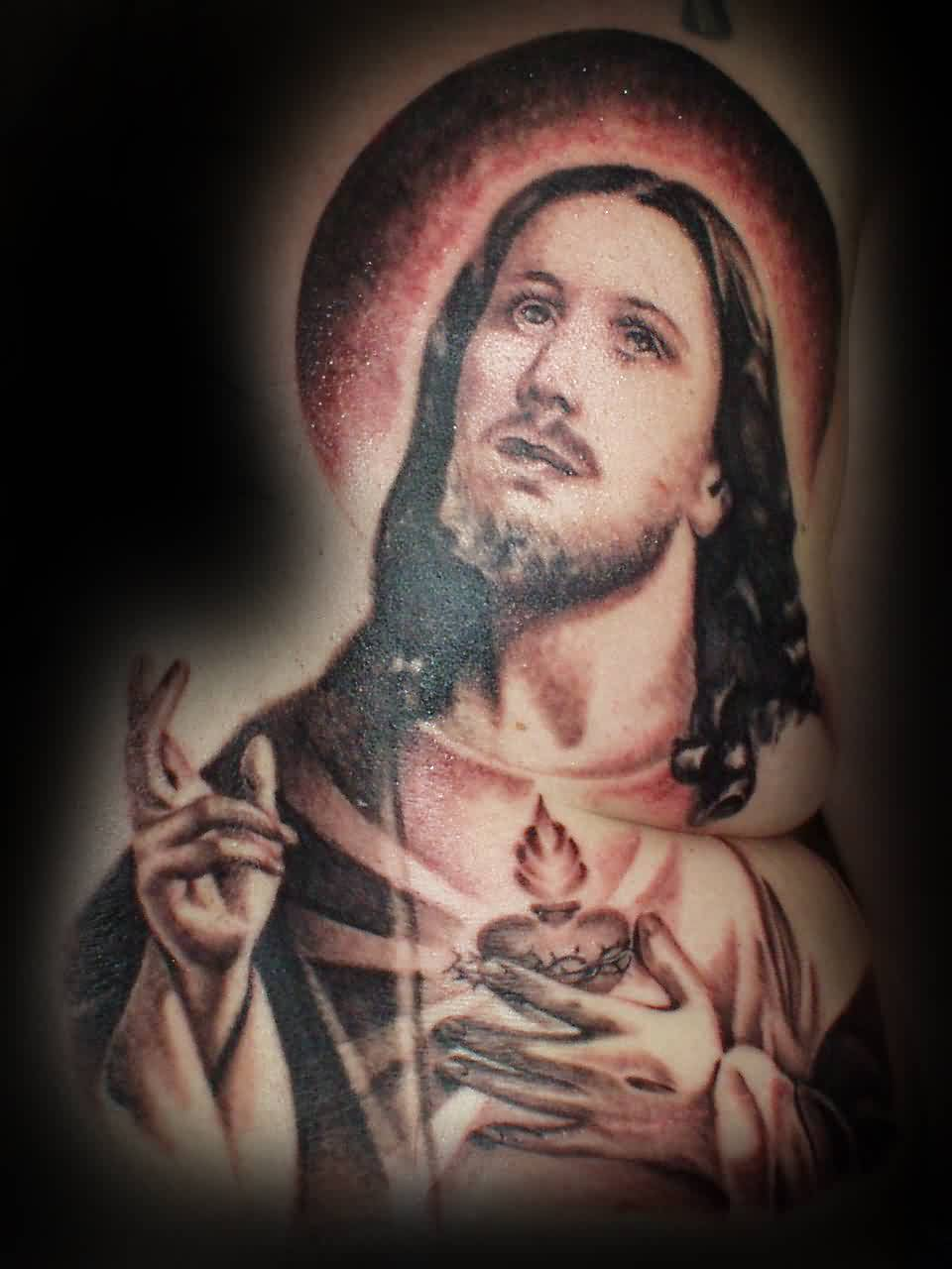 Christian God Portrait Tattoo