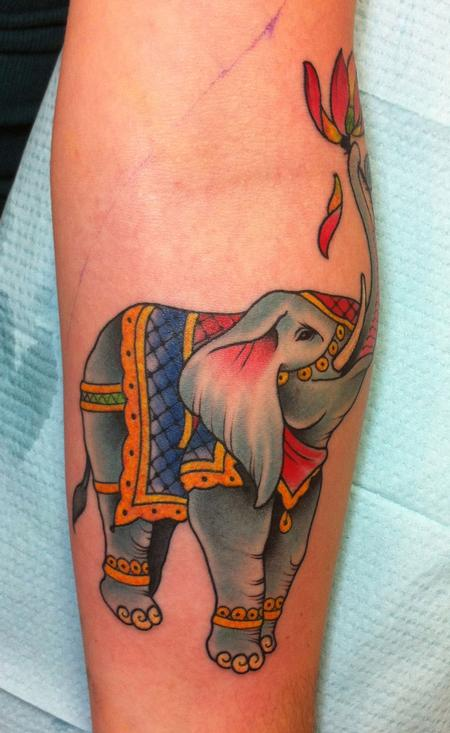 Circus Elephant Tattoo