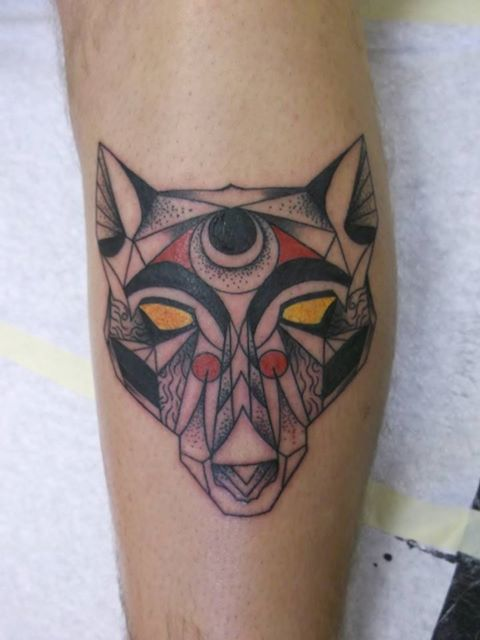 Clean Geometric Animal Tattoo