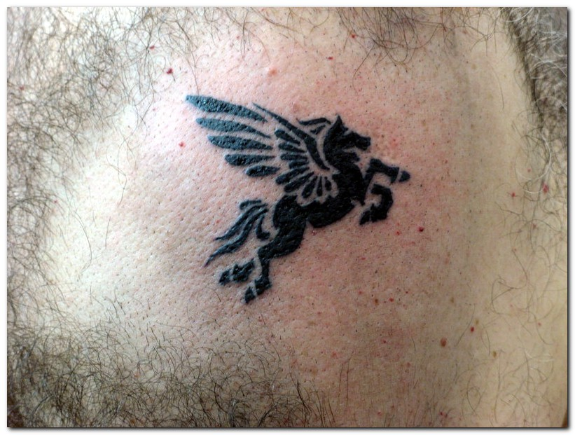 Clean Winged Horse Animal Tattoo