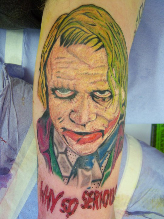 Color Ink Joker Portrait Tattoo (2)