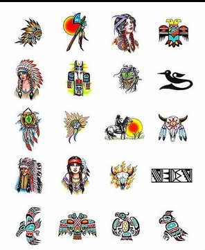 Colorful Native American Tattoo Collection