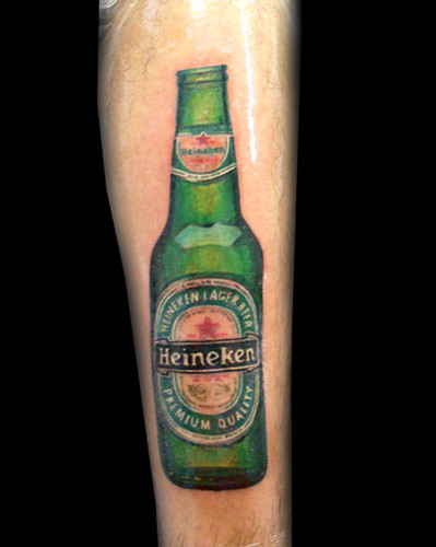Cool Green Bottle Tattoo