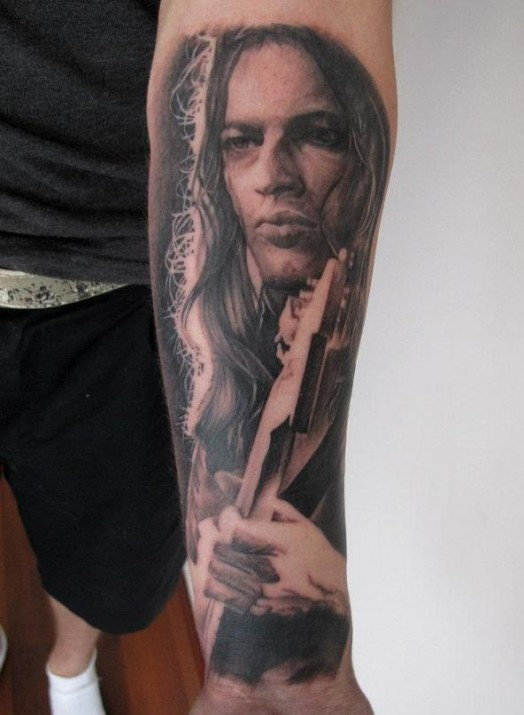 Cool Portrait Tattoo On Forearm For Boys