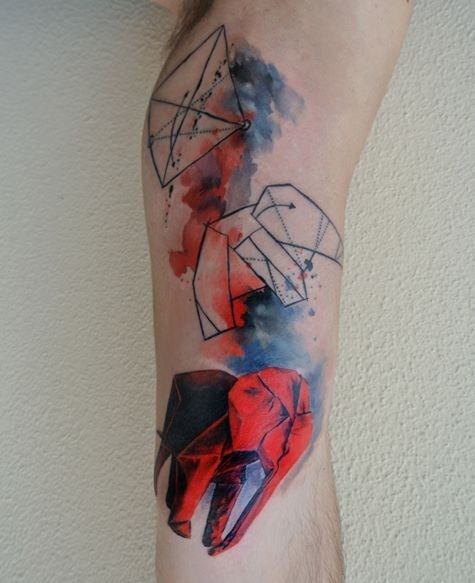 Cool Watercolor Tattoos On Arm