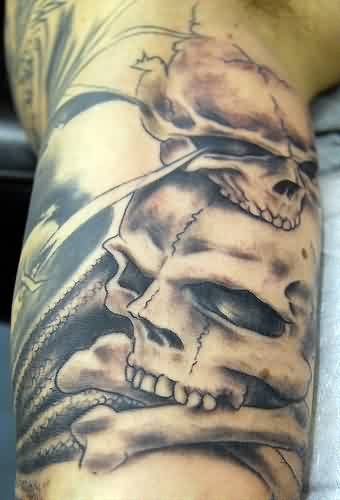 Cross Bone And Skull Tattoos
