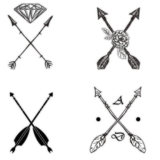 Crossed Arrow Tattoos Pack