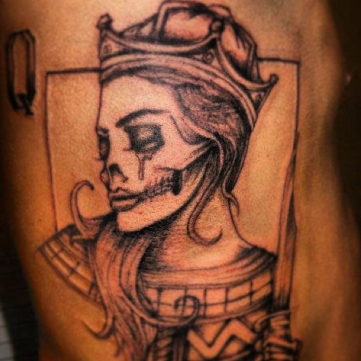 Crying Skull Queen Tattoo