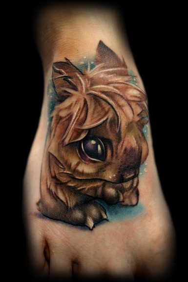 Cute Animal Tattoo On Foot