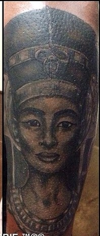 Dark Egyptian Queen Portrait Tattoos