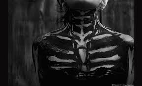 Dark Skeleton Bones Tattoo