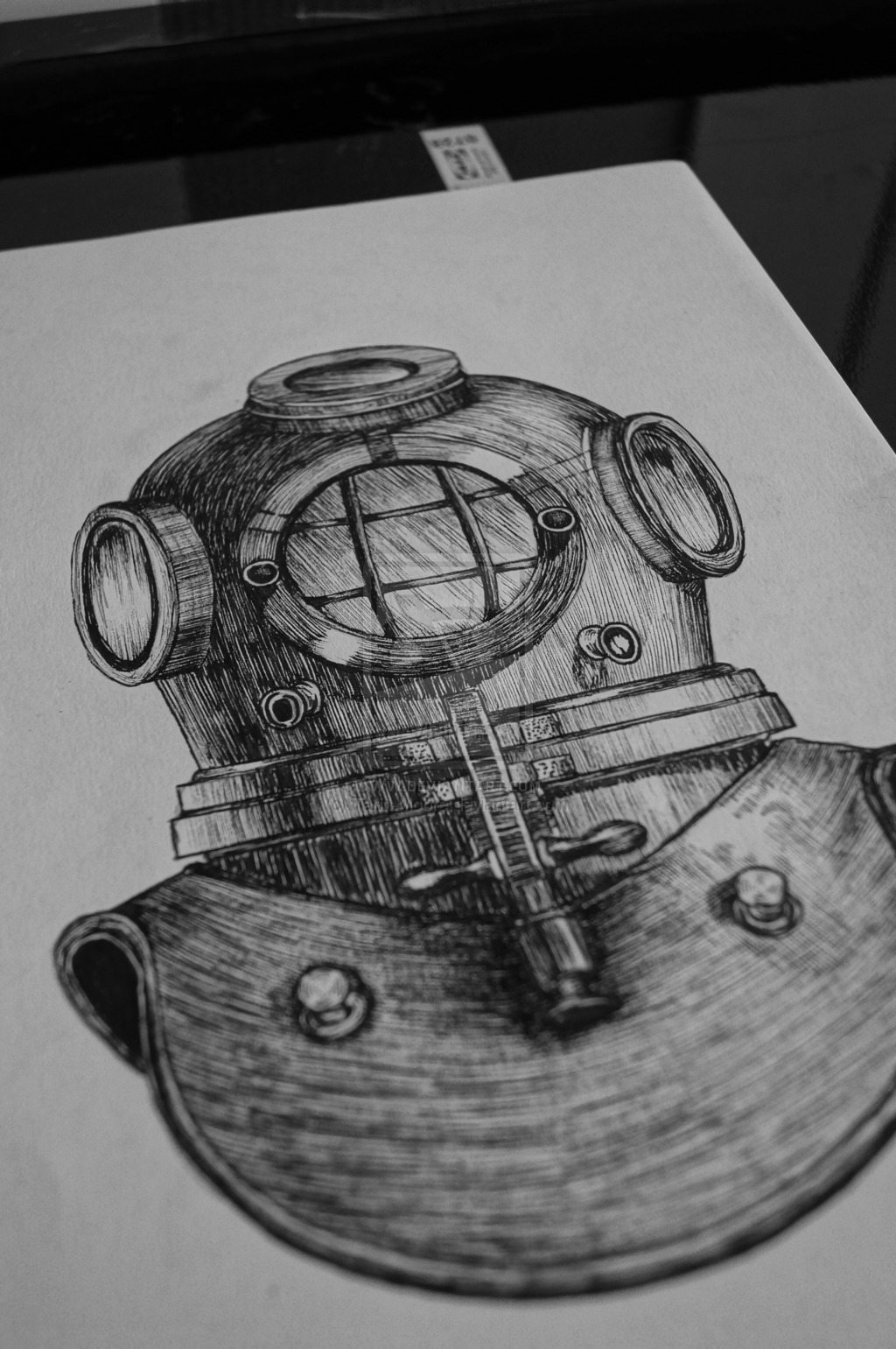 Deep Sea Divers Helmet Tattoo Design