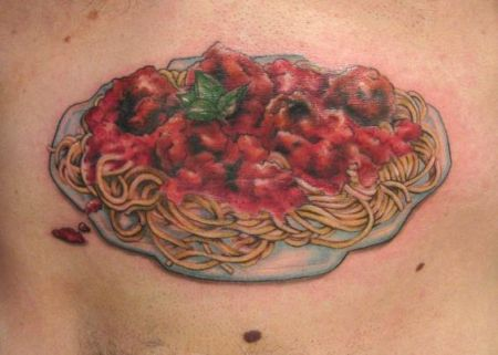 Delicious Food Portrait Tattoo