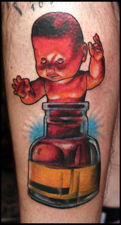 Doll Ink Bottle Tattoo