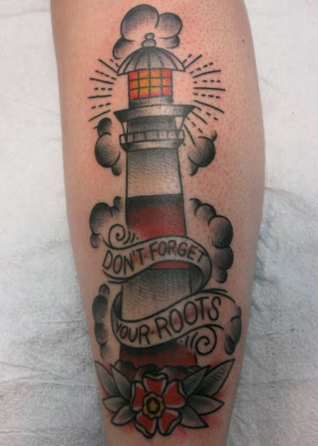 Don't Forget Roots - Lighthouse Tattoo