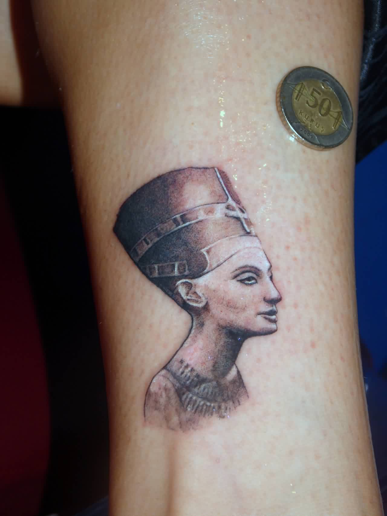 Egypt Queen Portrait Tattoo