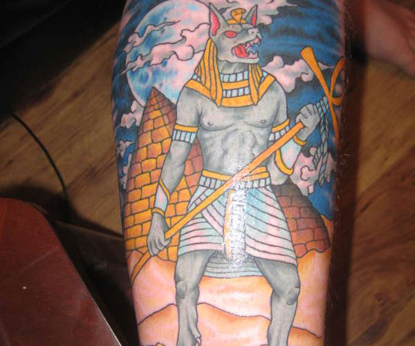 Egyptian Pyramid And Anubis Tattoos