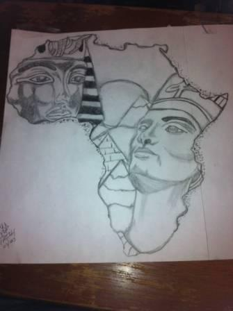Egyptian Queen Tattoo Drawing (2)
