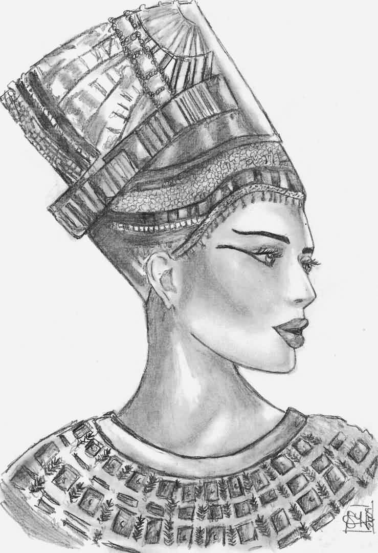 Egyptian Queen Tattoo Drawing