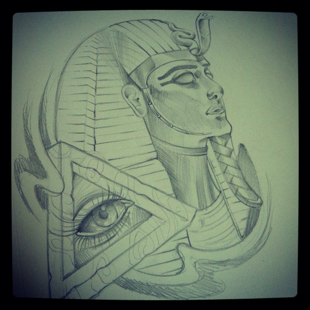 Egyptian Queen Tattoo Sketch (3)