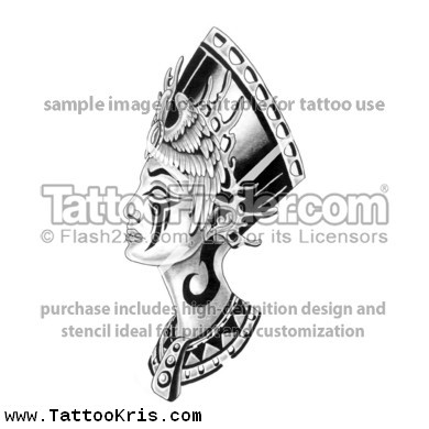 Egyptian Queen Tattoos Design
