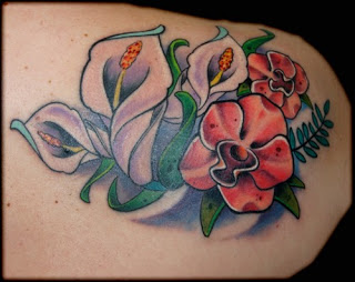 Elegant Tulips Flower Tattoo
