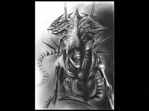 Evil Alien Queen Tattoo Sketch