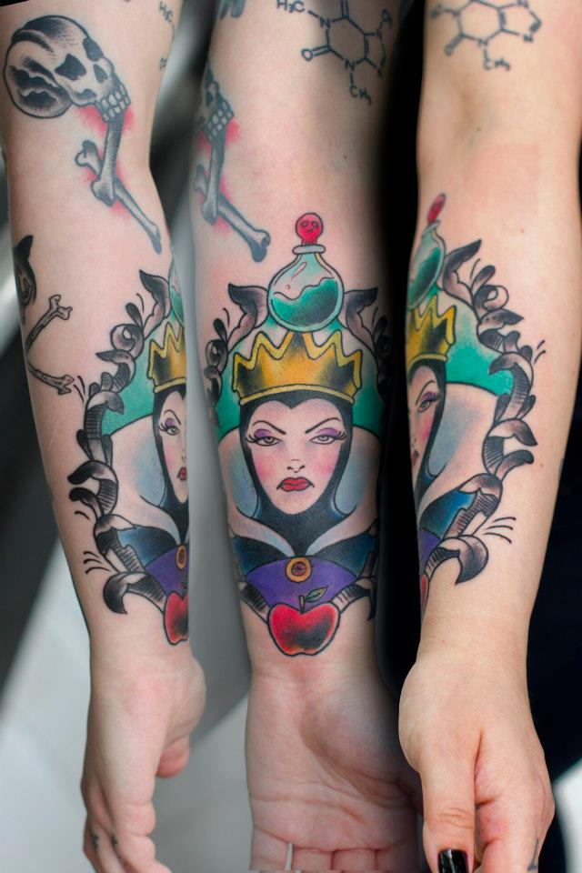 Evil Queen Wrist Tattoos