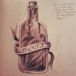 Evil Bottle Tattoo Print