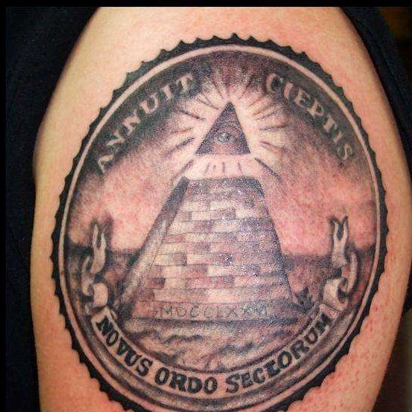 Eye Pyramid Dollar Bill Tattoo
