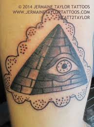 Eye Pyramid In Clouds Tattoo