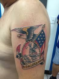 Fabulous American Tattoo On Biceps